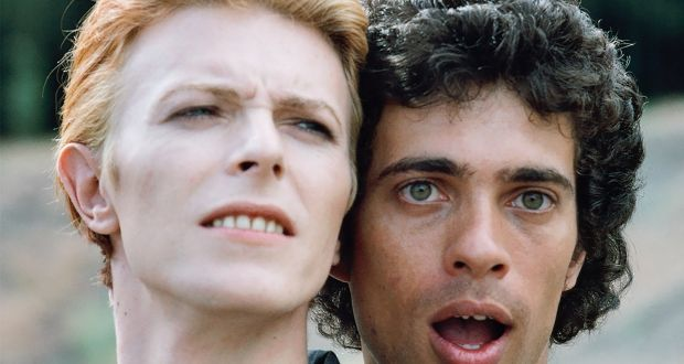 David Bowie with Geoff MacCormack on the set of The Man Who Fell to Earth. Photograph: Geoff MacCormack