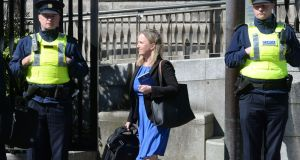 Former journalist Gemma O'Doherty could face further criminal charges arising out of an incident on a footbridge in Kilmacanogue, Co Wicklow last month. File photograph: Alan Betson/The Irish Times.
