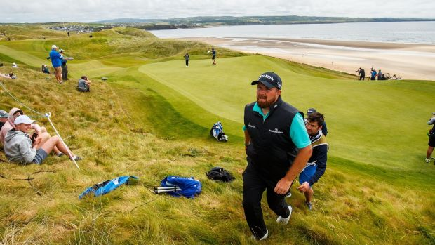 Shane Lowry pictured during the 2019 Irish Open at Lahinch. Photograph: Oisin Keniry/Inpho