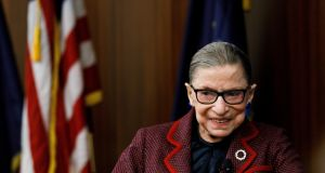 US Supreme Court justice Ruth Bader Ginsburg: In this high-stakes, partisan atmosphere, individual judges have become celebrities. Photograph: Justin Lane/EPA