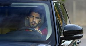 Barcelona's Uruguayan forward Luis Suarez appears to be on his way to Atletico Madrid. Photograph: Lluis Gene/AFP via Getty Images