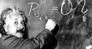 How is it that the world can be understood mathematically? Einstein addressed it repeatedly, once asking 'How can it be that mathematics, being after all a product of human thought, independent of experience, is so admirably appropriate to the objects of reality?' Photograph: AP