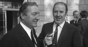 Then ministers Charles  Haughey (left) and Neil  Blaney were sacked over the arms crisis. File photograph: The Irish Times