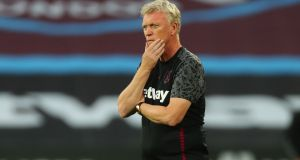 West Ham United manager David Moyes and players Issa Diop and Josh Cullen have tested positive for Covid-19. File photograph: Getty Images