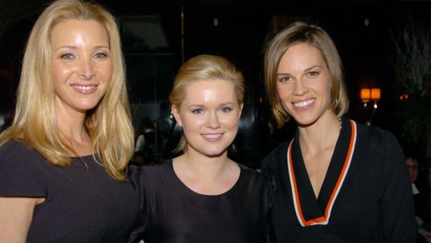 Cecelia Ahern, centre, with Lisa Kudrow and Hilary Swank, who both starred in the movie of Ahern's book PS I Love You, in 2012. Photograph: Richard Corkery/NY Daily News Archive via Getty Images