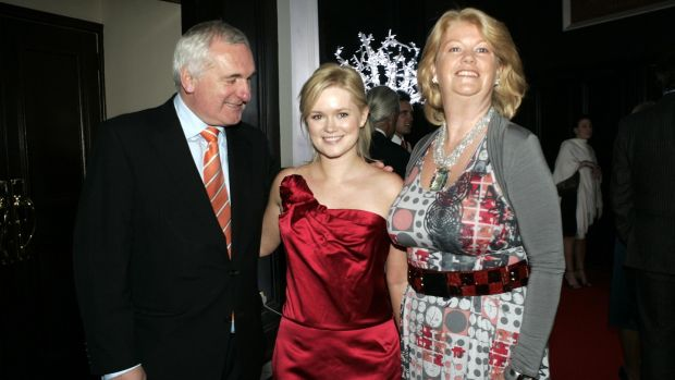 Cecelia Ahern with her parents, Bertie Ahern and Miriam Ahern, at a party to celebrate worldwide sales of 10 million of her books, in 2008. Photograph: Dara Mac Dónaill