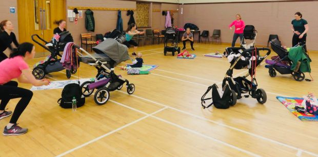Tracey Ferry is now a buggy fitness instructor.