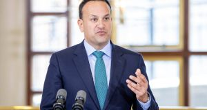 "Tánaiste Leo Varadkar has launched a call for Irish businesses to apply to a €500 million State-backed fund for ""disruptive"" technologies. Photograph: Julien Behal/PA Wire"