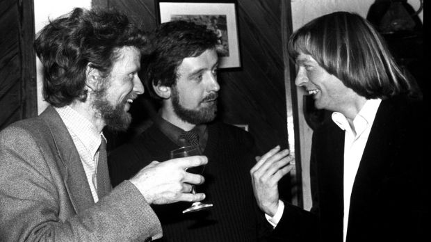 Paul Hyde, Michael Harding and David Irving at the presentation for the Hennessy New Irish Writing Awards in 1980. Photograph: Jimmy McCormack