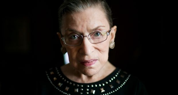 Ruth Bader Ginsburg's opinions were tightly composed, with straightforward declarative sentences and a minimum of jargon. Photograph: Todd Heisler/  New York Times