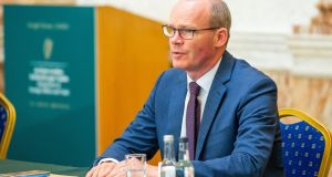 "Minister for Foreign Affairs  Simon Coveney: Progress on fisheries has been ""disappointing"" and ""progress on an overall trade deal is linked to progress on fisheries"". Photograph:  Tom Honan/PA"