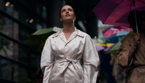 Jessica Brown Findlay in Brave New World, starting Friday on Sky One