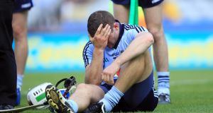 A dejected Conal Keaney of Dublin after their defeat to Kilkenny in the Leinster Senior Hurling  Championship final in Croke Park on July 3rd, 2011.  Photograph: Donall Farmer/Inpho