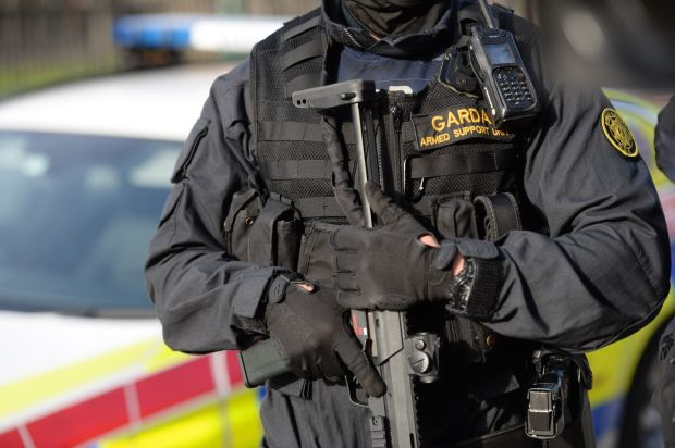 A member of the Garda Armed Support Unit, in Dublin. File photograph: Dara Mac Dónaill/The Irish Times