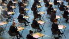 Almost 100 Leaving Cert students had six or more of their teachers' estimated grades lowered under the Department of Education's calculated grades process, new figures show. Photograph: Dara Mac Dónaill