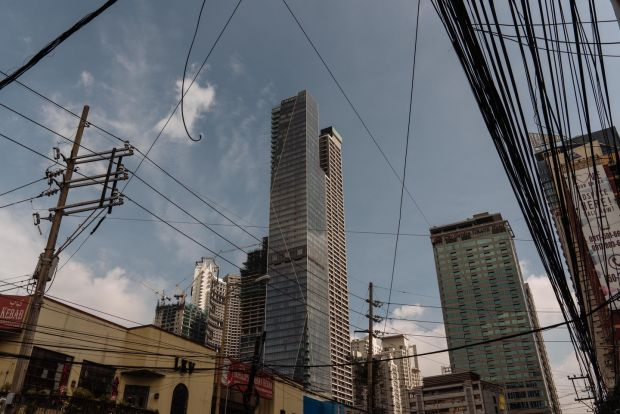 The Trump Tower in Manila, the Philippines. Photograph: Hannah Reyes Morales/The New York Times.