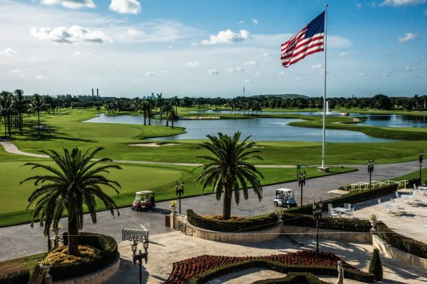 Trump National Doral, President Donald Trump's largest golf resort, in Doral, Florida. Photograph: Scott McIntyre/The New York Times.