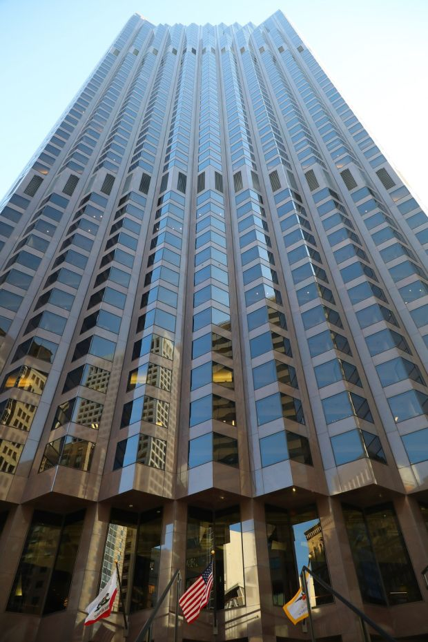An office tower, which US President Donald Trump co-owns with Vornado Realty Trust, in San Francisco. Vornado's CEO is a Trump ally and its tenants include firms that lobby the federal government. Photograph: Jim Wilson/The New York Times.