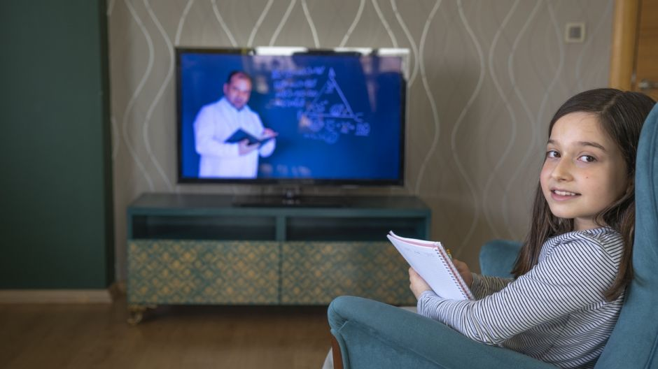 Poor broadband and limited access to devices means TV  is an optimal medium available to all. Photograph: iStock