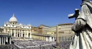 A view of St Peter's Square and Basilica at the Vatican. Photograph: AP Photo/Massimo Sambucetti