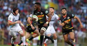 Siya Kolisi in action for the Stormers. Photograph: Shaun Roy/Getty
