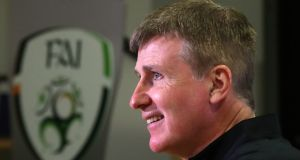 Republic of Ireland manager Stephen Kenny speaks to the press. Photo: Niall Carson/PA Wire