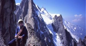 Clare Sheridan climbing in Chamonix in the French Alps