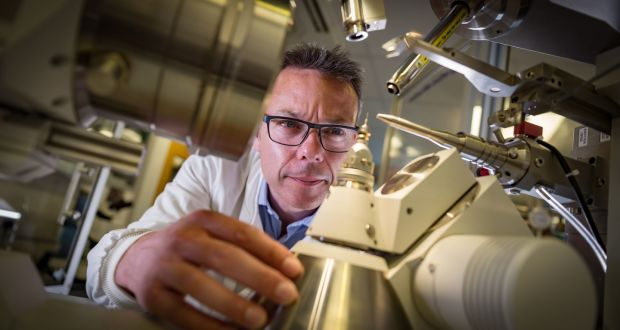 Professor John McGeehan, director of the Centre for Enzyme Innovation at the University of Portsmouth. Photograph: University of Portsmouth/Stefan Ventur/PA Wire