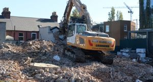 The O'Rahilly home was demolished. Photograph: Dara Mac Dónaill
