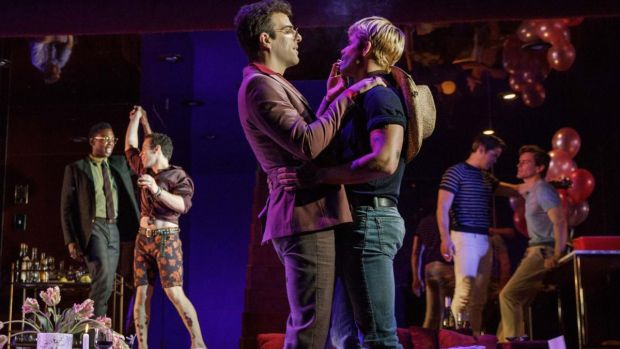 Zachary Quinto and Andrew Rannells (centre) in The Boys in the Band