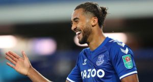 Everton striker  Dominic Calvert-Lewin has received an England call-up after his fine start to the season. Photograph:   Alex Livesey/EPA
