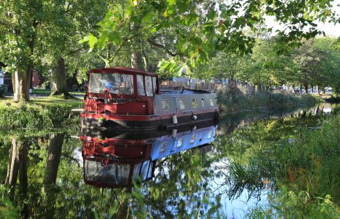 CANAL BANK WALK: The Royal Canal in a reflective mood as autumn begins to take hold. Photograph: Nick Bradshaw