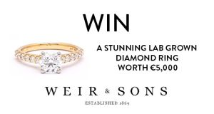 Win a stunning Lab Grown diamond ring worth €5,000 from Weir & Sons with The Irish Times