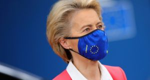European Commission president Ursula von der Leyen at the EU summit in Brussels on Friday. Photograph: Olivier Matthys, Pool/AP
