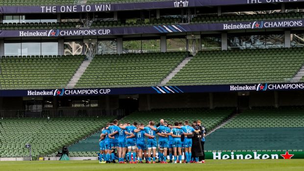 Professional rugby players in Ireland took a 10 per cent cut in pay along with a 10 per cent pay deferral. Photograph: Billy Stickland/Inpho