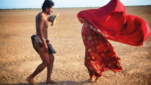 Jose Acosta and Natalia Reyes in Birds of Passage