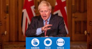 """I doubt there have been any actual ploughs in Boris Johnson's life."" Photograph: Jack Hill/AFP"