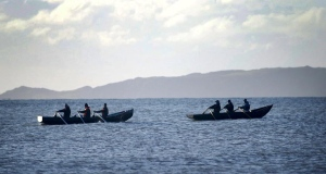 Skerries men take to the sea in a currach they built themselves