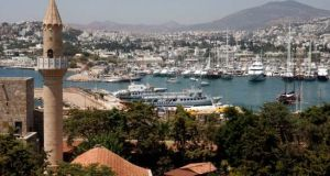 A view of the city of Bodrum, its bay and its harbour. The city is a popular destination with tourists. Photograph: Getty