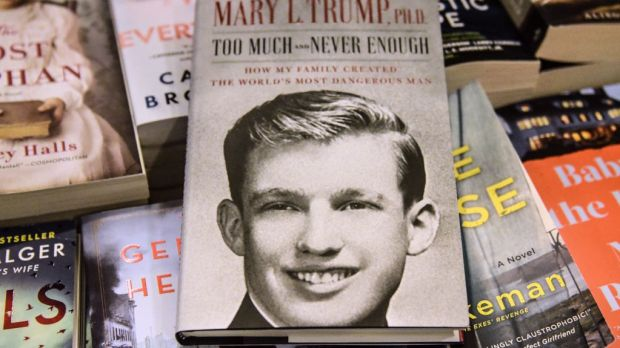 Mary Trump's new book about US President Donald Trump. Photograph: Stephanie Keith/Getty Images