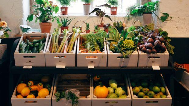 The kitchen garden's bounty. Photograph: Taryn Elledge-Penner of Quartier Collective