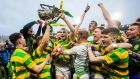 Blackrock celebrate with the trophy after winning the Cork SHC Final against Glen Rovers at Páirc Uí Chaoimh last Sunday. Photograph: Ryan Byrne/Inpho