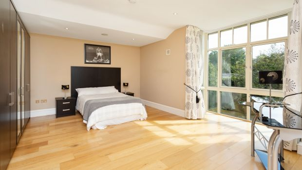 One of the five spacious bedrooms