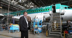 Dublin Aerospace chief executive Conor McCarthy at the company's  maintenance facility in Dublin Airport. Photograph Nick Bradshaw