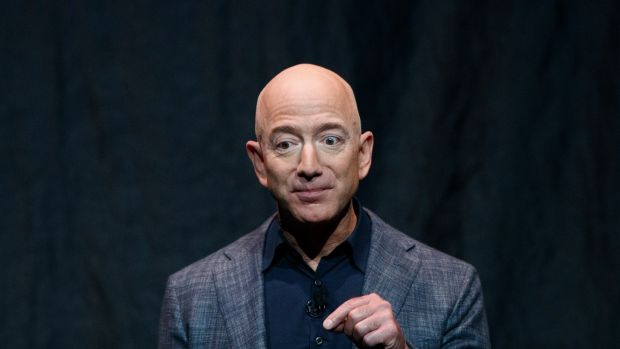 The richest person on the planet is Jeff Bezos, the founder and chief executive of Amazon, with $189bn. File photograph: Tom Brenner/The New York Times