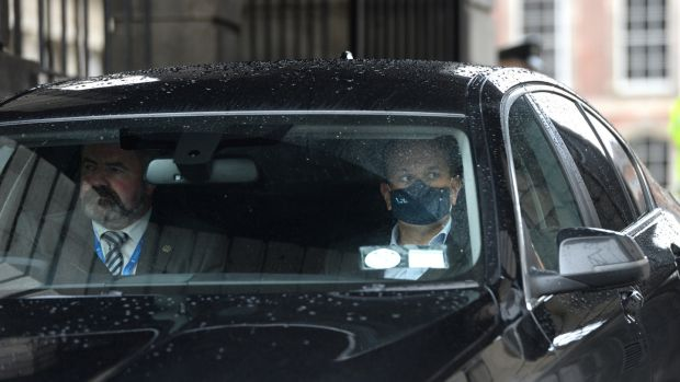Tánaiste Leo Varadkar leaving a Cabinet meeting in Dublin Castle on Tuesday.Photograph: Dara Mac Dónaill