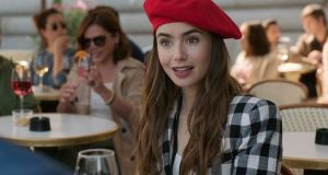 Lily Collins in Emily in Paris: pretty hard to stop watching