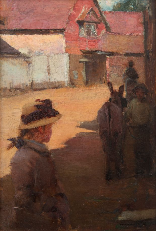 Walter Osborne's A Girl in a Village, €30,000-€50,000 at Adam's