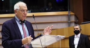 EU chief diplomat Josep Borrell has ruled out military action. Photograph: Yves Herman/POOL/AFP via Getty