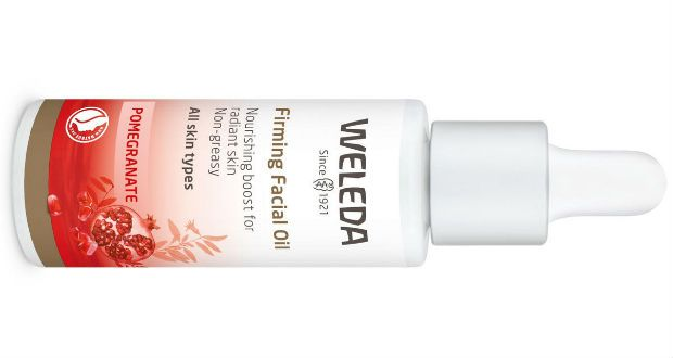 Weleda's Skin's Pomegranate Firming Facial Oil (€43 at Boots) is an ethically sourced blend of natural oils